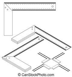 Establecer herramientas isometricas en un fondo blanco