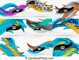 Establecimiento de vector 3D línea de ondas abstractas