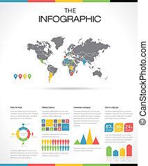 Establezca elementos de infografía