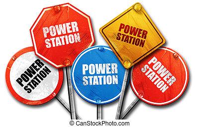 Estación de energía, edición 3D, dura colección de carteles de la calle