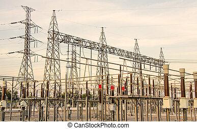 Estación de energía para hacer electricidad