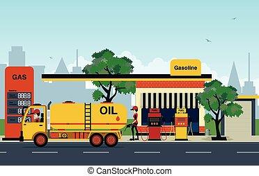 estación de gasolina