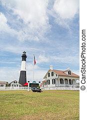 Estación de luz de la isla Tybee histórica