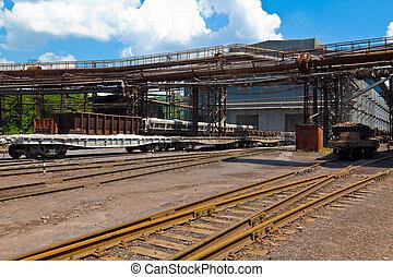 Estación de trenes de carga