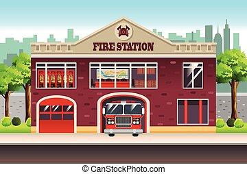 estación, fuego