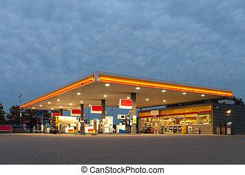 estación, gas