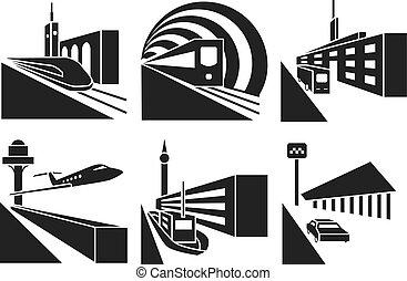 Estaciones de transporte de vectores fijados