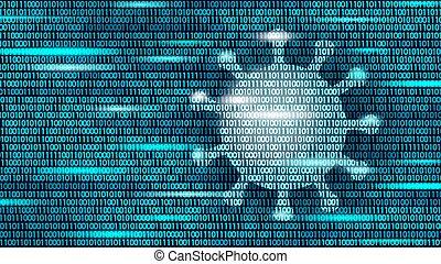 estadística, concept., él, fondo., números, datos, coronavirus, azul, arte, flujo, seguro, pneumonia, covid, ilustración, epidemia, virus, pandemia, vector