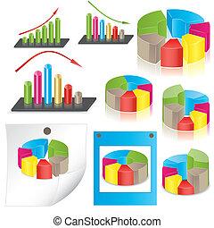 Estadísticas de negocios. Vector