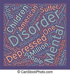 Estadísticas de salud mental texto fondo concepto palabracloud