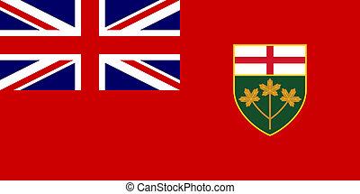 estado, bandera de ontario