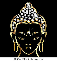 estado, buddha, oro
