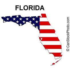Estado de Florida en estrellas y rayas