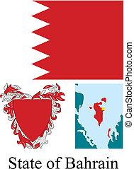 Estado de la bandera de los bahrain
