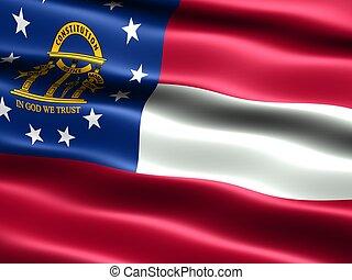 estado, georgia, flag: