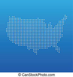 estados, mapa, unido, punto