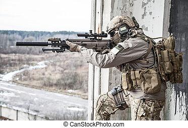 estados, unido, ejército, guardabosques