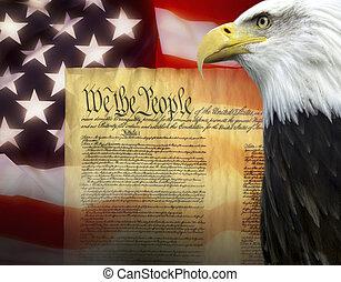 estados, -, unido, patriotismo, américa