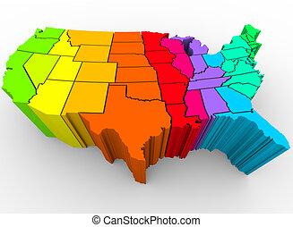 Estados Unidos arco iris de colores - diversidad cultural