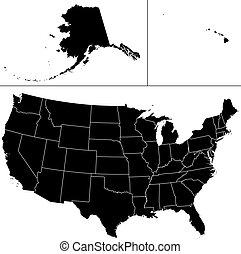 estados unidos de américa, forma.