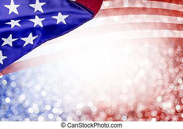 estados unidos de américa, julio, independencia, bokeh, diseño, otro, plano de fondo, día, 4, resumen, bandera, celebración