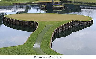 estados unidos de américa, tpc, florida, 17, ponte, golf, vedra, agujero, sawgrass