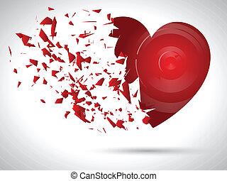 estallar, corazón