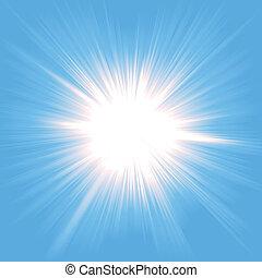 Estallido de luz del cielo