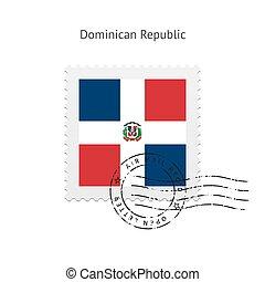 Estampado de bandera de la República Dominicana.
