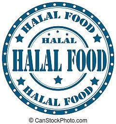 Estampado de comida Halal