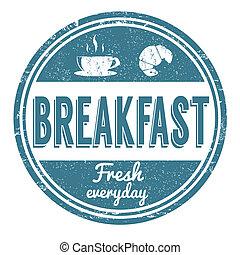Estampado de desayuno