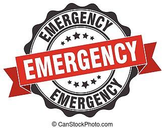 Estampado de emergencia. Firma. Sellen