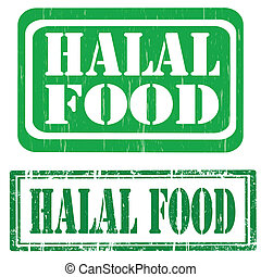 Estampados de comida Halal