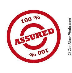 estampilla, 100 por ciento, asegurado