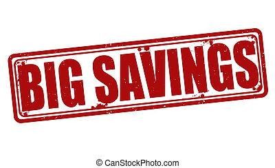 estampilla, ahorros grandes