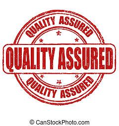 estampilla, calidad, asegurado