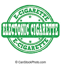 estampilla, cigarrillo, electrónico