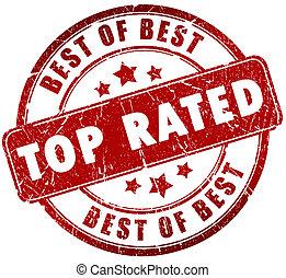estampilla, cima, rated