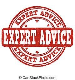 estampilla, consejo, experto