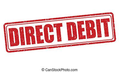 estampilla, débito directo
