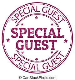 Estampilla de invitados especiales