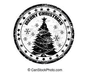 Estampilla de Navidad