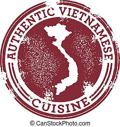 estampilla del alimento, auténtico, vietnamita