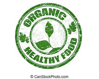 estampilla del alimento, orgánico, sano