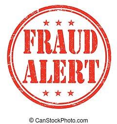 estampilla, fraude, alarma