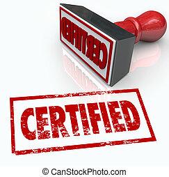 estampilla, funcionario, verificación, sello, aprobación, certificado