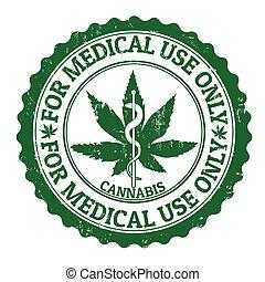 estampilla, médico, marijuana