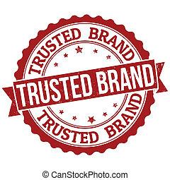 estampilla, marca, trusted