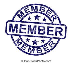 estampilla, miembro, calidad de miembro, registro, subscribing, exposiciones