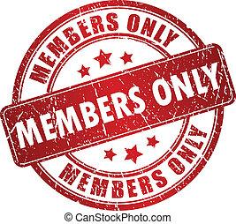 estampilla, solamente, vector, miembros